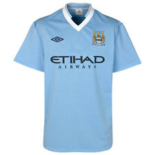 Umbro Manchester City 2011-2012 Home Soccer Jersey Brand New Sky Blue - White