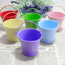 12/48/60 pieces Mini Metal Bucket Candy Favors Box Pail Wedding Party Gifts New