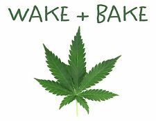 "Marijuana Pot Leaf Stoner Wake & Bake Pillowcase Large Image 13"" x 17"""