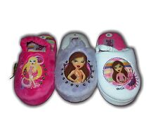 Girls Slippers Mule Bratz  Elasticated Back White/Pink/Lilac Sizes 8-2  MRP £12