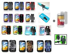 For BLU Studio 5.0 Hybrid Phone Case with Stand + Free Screen Protector