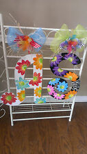 Handpainted  Jumbo Large Wood Letter  Door Hanger Wreath Wall Art  ~ANY INITIAL~