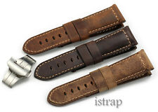Ammo 24mm Assolutamente Genuine Leather Watch Band Strap For Luminor PAM111