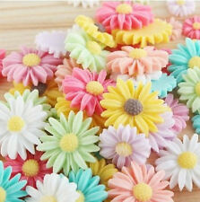 10pcs ~8colors 21mm Daisy Resin Flatback Cabochon ScrapbookIng for phone/craft