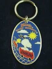 Vtg Knotts Camp Snoopy Rollercoaster Personalized Keychain Many Names J - P