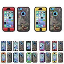 HYBRID CAMO 3PC CASE FOR IPHONE 5C WITH BUILT IN SCREEN PROTECTOR/ NEW