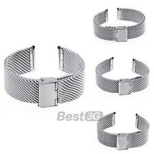 18/20/22/24mm Bracelet de Montre Rechange en Acier Maille Watch Band