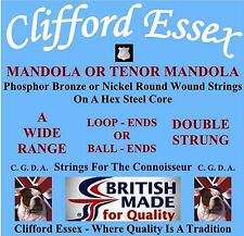 MANDOLA/TENOR MANDOLA STRINGS. MEDIUM, LIGHT AND ULTRA LIGHT GAUGES.