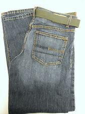New Calvin Klein Mens Relaxed Denim Jean & Green Belt Straight Leg 32 X 34