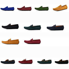 US5-10 Fashion Woven Leather Casual SLIP-ON Driving Loafers lace up mens shoes