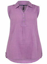 NEW LADIES EX EVANS LILAC SLEEVELESS SPRING/SUMMER TUNIC TOP SIZES 14-32