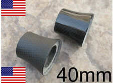 """40mm 1-1/8"""" Matte or Gloss Conical Tapered Carbon Headset Bike Stem Spacer Cap"""