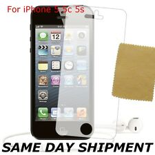 HD Clear LCD Screen Protector Cover Guard For Apple iPhone 5S 5 5C + CLOTH FREE