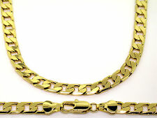 Luxury Curb Chain Necklace - 24 k Gold plated - Mens - 6mm, Chunky, Bling solid