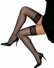 Hanes Hosiery Silk Reflections Lace Top, Sandalfoot Thigh Highs 3-Pack A444P