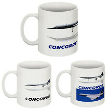 Personalised Concorde Mug Cup. Choose from 4 Designs. Limited Edition Mugs. New