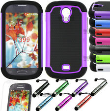 Hybrid Rugged Rubber Hard Case Cover For Samsung Galaxy Light T399 TMobile+GIFT