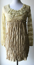 Pretty Angel Lace & Silk Blend Vintage Victorian Romantic Long Top/Tunic-ELEGANT