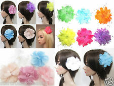 Wedding Fascinator Races Hair Flower Clip Prom Bridesmaid Bold or Pastel f97
