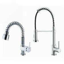 Solid Brass Pull Out Swivel Spray Spout Kitchen Sink Basin Faucet Mixer Tap