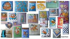 Garfield Party Plates Napkins Tablecover Hat Balloons Gift Paper Bags Banner Toy