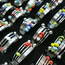 25-250pcs wholesale jewelry good colorful beads iron spring Rings free shipping
