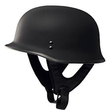 Fly Racing 9MM Flat Matte Black German Military Style Motorcycle Half Helmet