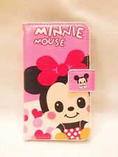 Minnie Mouse Bowknot Leather card Slot Pouch Case Cover FOR NOKIA MOBILE PHONES