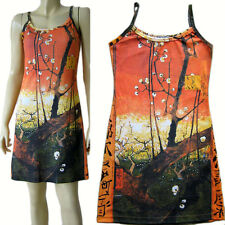 Van Gogh PLUM TREES IN BLOOM Hand Print Fine Art Dress Misses S M L XL New by PN