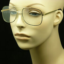 Clear aviator lens sun glasses frames optical nerd geek non precription fake lp4