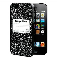 School Composition Notebook Hard Phone Case For iPhone 4 4s 5 5s 5c