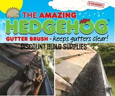 Hedgehog Gutter Brush Guard 125mm  For Deep Flow Gutter Choice Black Brown White