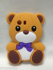 HOT! 3D Teddy lucky Bear cute lovely Silicone Soft Case Cover For MOBILE PHONES