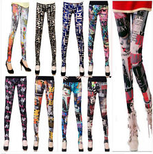 Lady's Punk Funky Sexy Leggings Stretchy Tight Pencil Skinny Pants New 9265gl