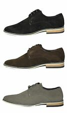 Men's Casual Desert Shoes Lace-up Black, Brown. Grey Suede Look Lace-up UK 6-11