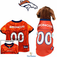 NFL Pet Fan Gear DENVER BRONCOS Jersey Shirt Tank for Dog Dogs Puppy Puppies
