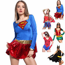 Ladies Heroine Superwoman Spidergirl Wonder Woman Sexy Robin Cosplay Fancy Dress