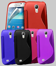 NEW S LINE WAVE GEL CASE COVER FOR SAMSUNG GALAXY S4 MINI I9190 + SCREEN GUARD