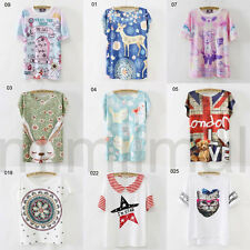 26 Model Korean Fashion Lovely Animals Loose Women Ladies Casual T-Shirt Tops
