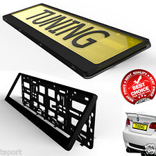 A PAIR OF BLACK CAR Number Plate  Holder SURROUND Frame SPORT styling tuning