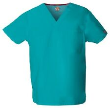 Dickies Scrubs 83706 V Neck Unisex Scrub Top Dickies EDS Teal