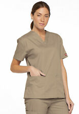 Dickies Scrubs V Neck Scrub Top Dickies EDS 86706 Signature Khaki