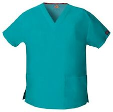 Dickies Scrubs V Neck Scrub Top Dickies EDS 86706 Signature Teal