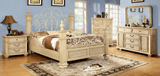 Bedroom Set Queen King Bed 5pcs Bedroom  Furniture in White CM7810 Wood Bed Set