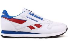 Reebok CL Leather Re M42209 New Mens White Blue Black Athletic Running Shoes