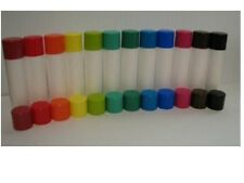50 New empty lip balm chapstick tubes/caps choose color