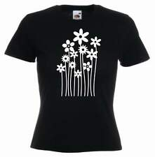 Ladies Slim Fit BLOOMING FLOWERS Nature's T Shirt -Colors Choice- Sizes S - XL
