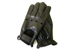 MENS BLACK LEATHER DRIVING DRESSING GLOVES UNLINED BIKER MOTORCYCLE NEW #1009