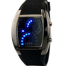RPM Turbo Blue & White Flash LED Watch BRAND Gift Sports Car Meter Dial Men CH
