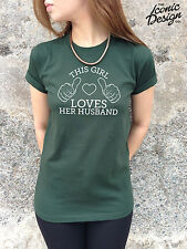 * This Girl Loves Her Husband T-shirt Top Shirt Funny Tumblr Gift Present Lady*